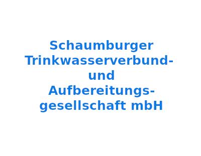 Schaumburger Trinkwasserverbund- und Aufbereitungs- gesellschaft mbH